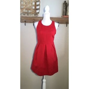 Anthropologie Embossed Red Mini Dress